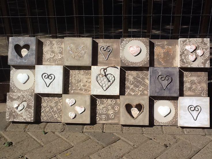 Heart Boxed Art-mix media