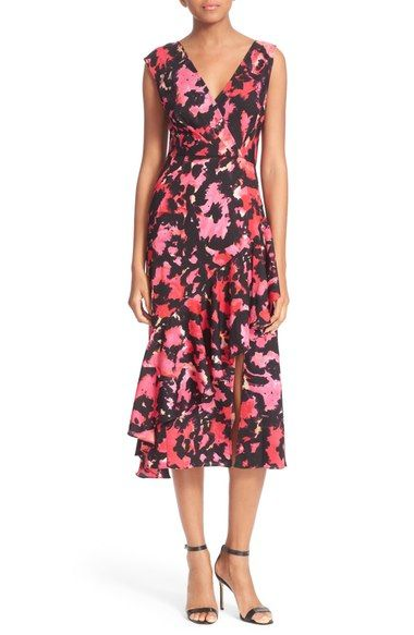 Tracy Reese Print Surplice Flounce Dress available at #Nordstrom