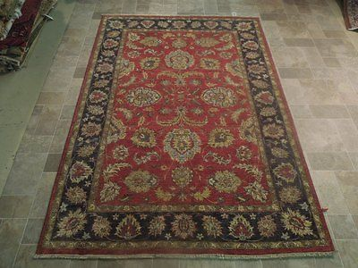 Vintage Look Rugs Clearance Rug Hand Knotted 6' x 8' Vegetable Dyed Chobi