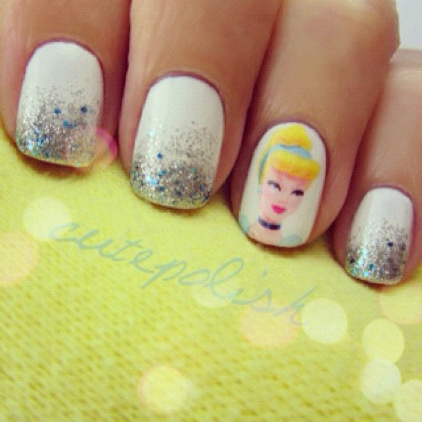Disney Princess Tiana Waterfall Nail Art: 24 Best Images About Disney Nail Arts On Pinterest