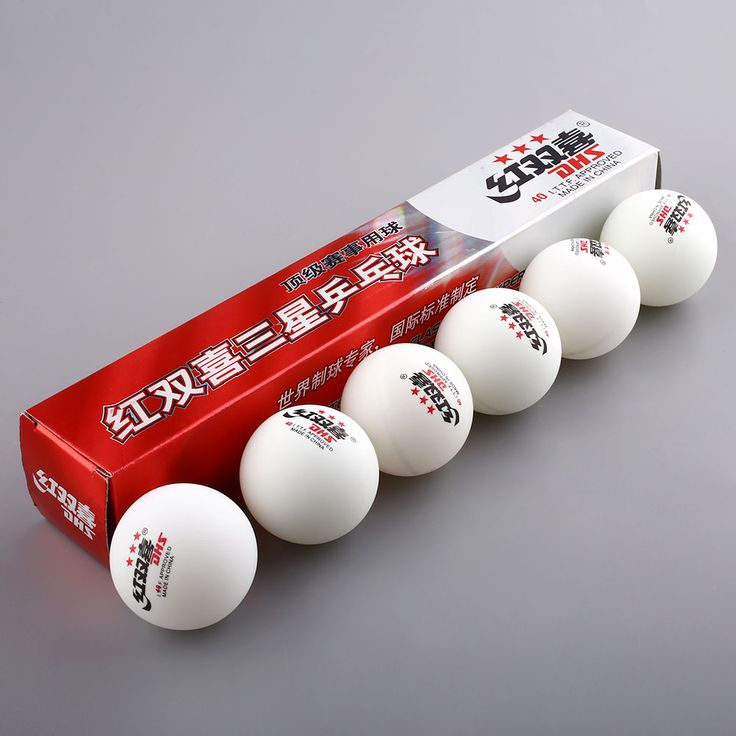 3 Star 6 Pics DHS 40MM Olympic Table Tennis Yellow Ping Pong Balls Durable For Competition