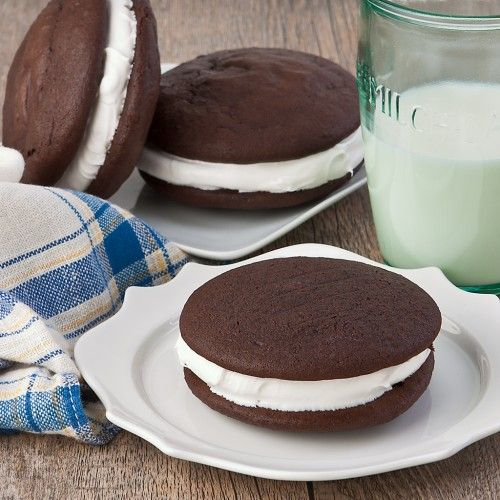 WhoopiePies - This recipe is Gluten Free!    I like Gluten Free cake but decided to substitute the filling for one in another recipe: 1 stick (1/2 cup) unsalted butter, softened 1 1/4 cups confectioners sugar 2 cups marshmallow cream such as Marshmallow Fluff 1 teaspoon vanilla  either way...YUM