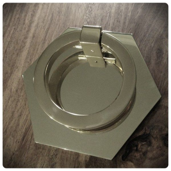 Kitchen Set Instan: Drop Ring Pull With Hex Back Plate