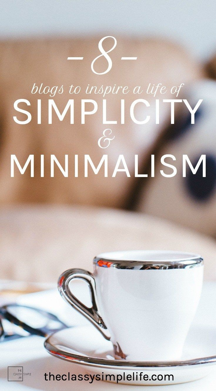Looking for inspiration in creating a life of simplicity and minimalism? Click for 8 of my favorite blogs!