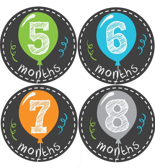 Balloon Baby Month Stickers