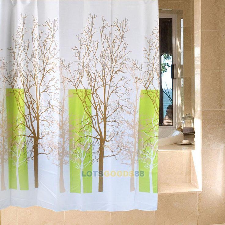 cheap lsg decorado rbol diseo bao ducha cortina de tela impermeable x cm
