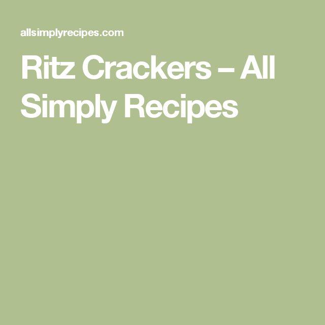 Ritz Crackers – All Simply Recipes