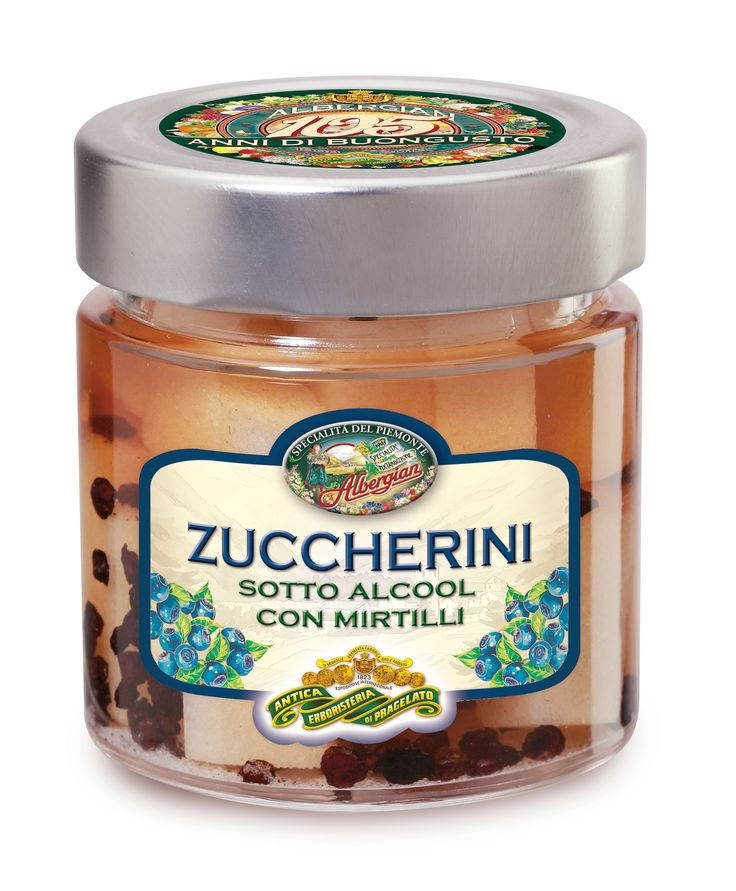 In alchol sugary with blueberries: to close the meal firmly and digestive. The taste of italian food. http://www.albergian.it/shop/frutta-sciroppata/zuccherini-con-mirtilli/