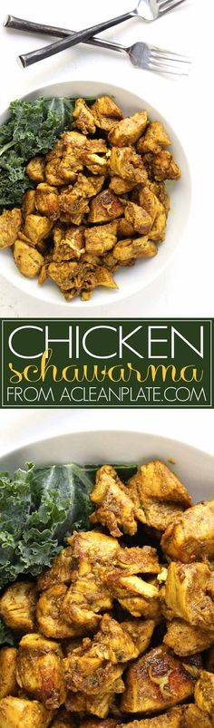 Autoimmune protocol-friendly Chicken Schawarma recipe from http://acleanplate.com