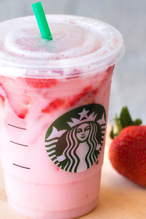 #PinkDrink madness! We've created an even BETTER, super-low-calorie version of Starbucks' Pink Drink! Just 50 calories! Plus, get the 411 on Starbucks' version.