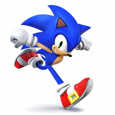 Sonic the Hedgehog as he appears in Super Smash Bros. for Nintendo 3DS / Wii U.