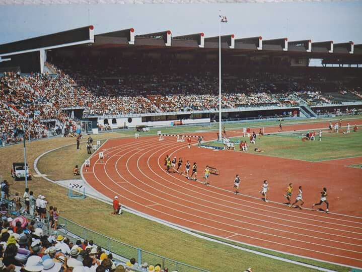 Commonwealth games in Christchurch, New Zealand , at QE 2 Park, 1974