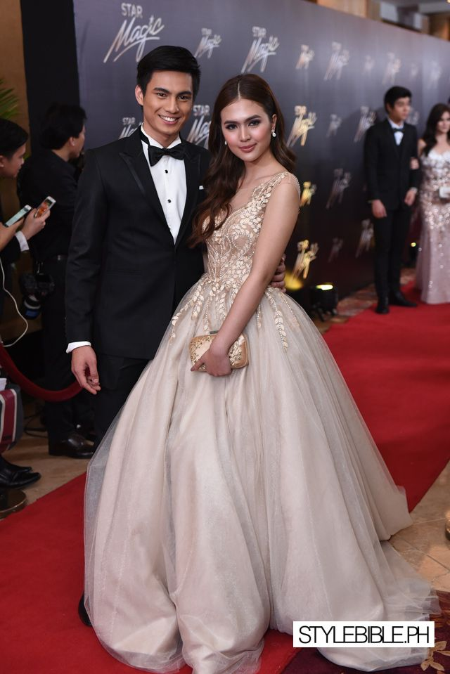 star magic ball 2015 red carpet looks gown formal