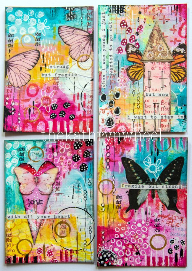 OOOh I love anything small! And art journal pages are no exception, it's such a great way to try out new techniques, play around with b...