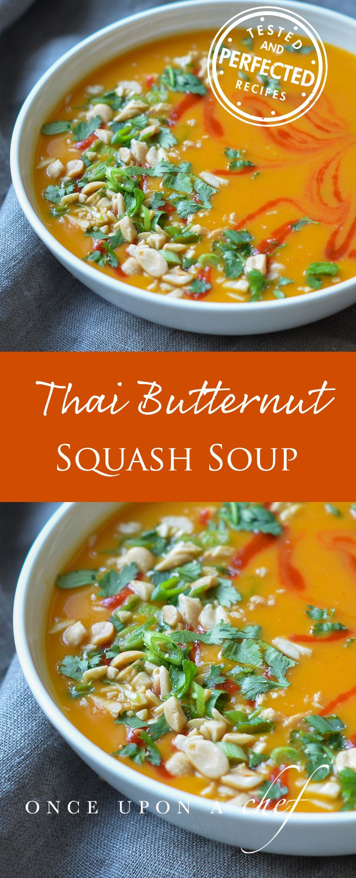 Thai-Style Butternut Squash Soup with Coconut Milk