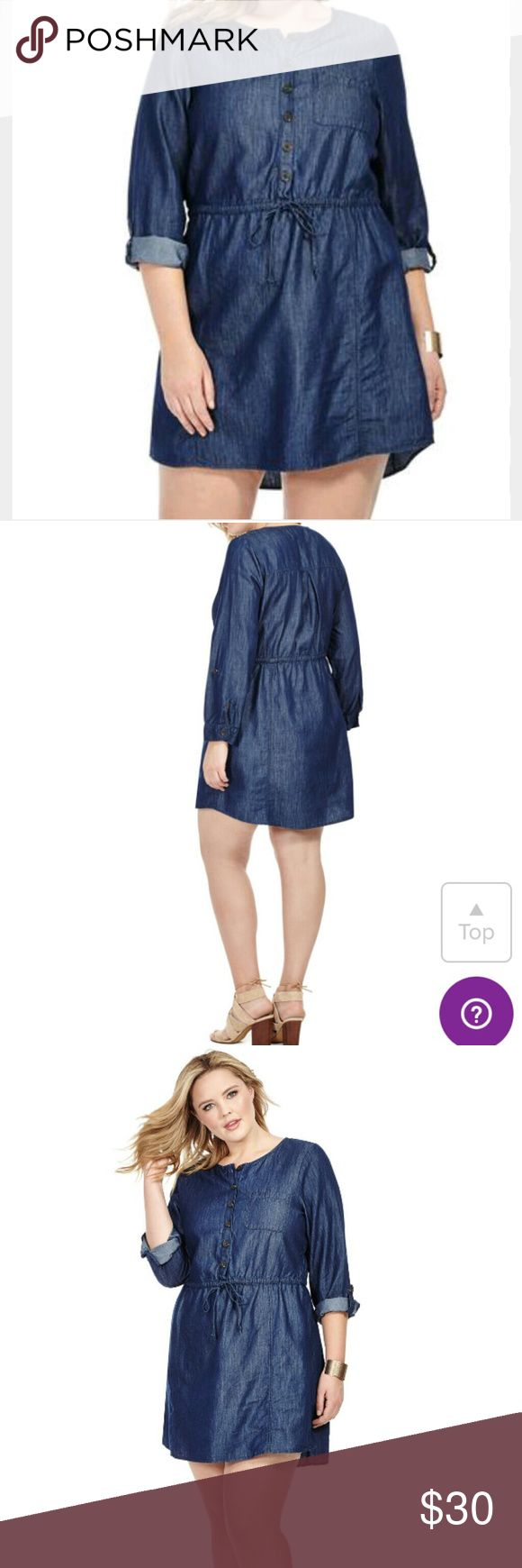 Denim plus size dress Denim plus size dress by BB Daokta with adjustable drawstring waist and adjustable sleeves bundle more and save.Comes with Boutique Sales Tag Only BB Dakota Dresses