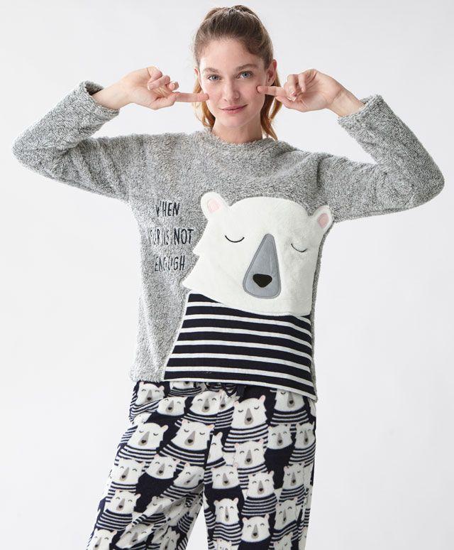 Felpa orso marinaio - Novità - Tendenze moda donna AW 2016 su Oysho on-line : biancheria intima, lingerie, abbigliamento sportivo, scarpe, accessori e costumi da bagno. Spedizione gratuita a partire da 40 EUR e resi gratuiti.