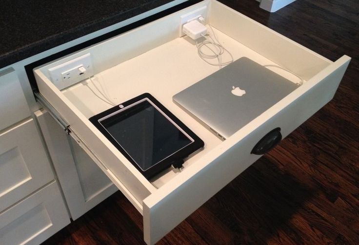 Create a Utility draw in your kitchen for charging iPads, Phones etc.