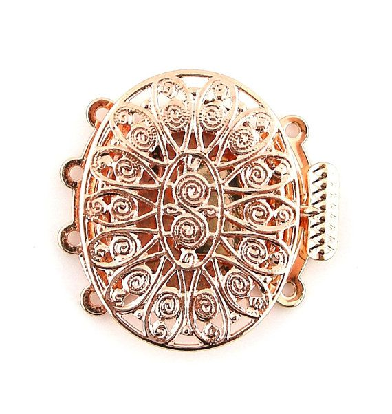 Rose Gold Plated Filigree 4 Four Multi by FancyGemsandFindings, $6.00