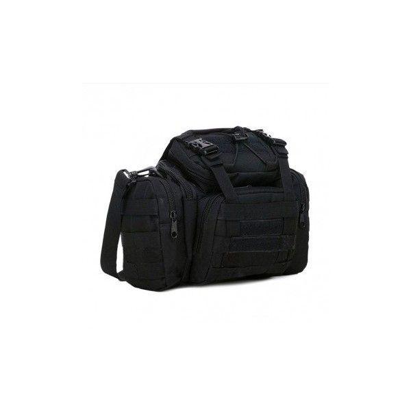 Tactical Bag 3 Ways Utility Carry Bag MOLLE Heavy Duty  Shoulder Strap... (165 SEK) ❤ liked on Polyvore featuring men's fashion, men's bags, black, mens pouch bag, mens purse bags, mens ipad bag and mens utility bag