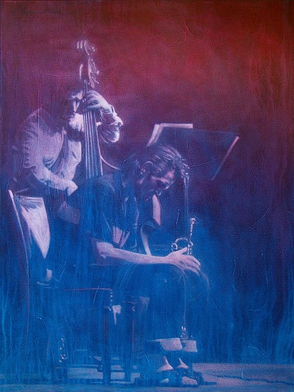Jazz Art Paintings / Chet Baker 2 / acrylics on canvas / 160x120 cm.