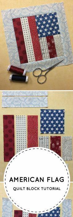 Flag Quilt Block Tutorial: FREE on Craftsy