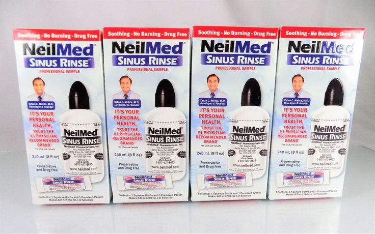 #NeilMed #saline #sinus #rinse 8 oz./240 ml size squeeze bottle & pre-mixed packet professional #sample starter kit/set lot of four (4) count piece ct. pc. with simple, soothing, affordable, effective, drug-free and preservative-free formula, brand new & unused in original manufacturer's factory sealed red, white & blue cardboard protective retail box packaging…