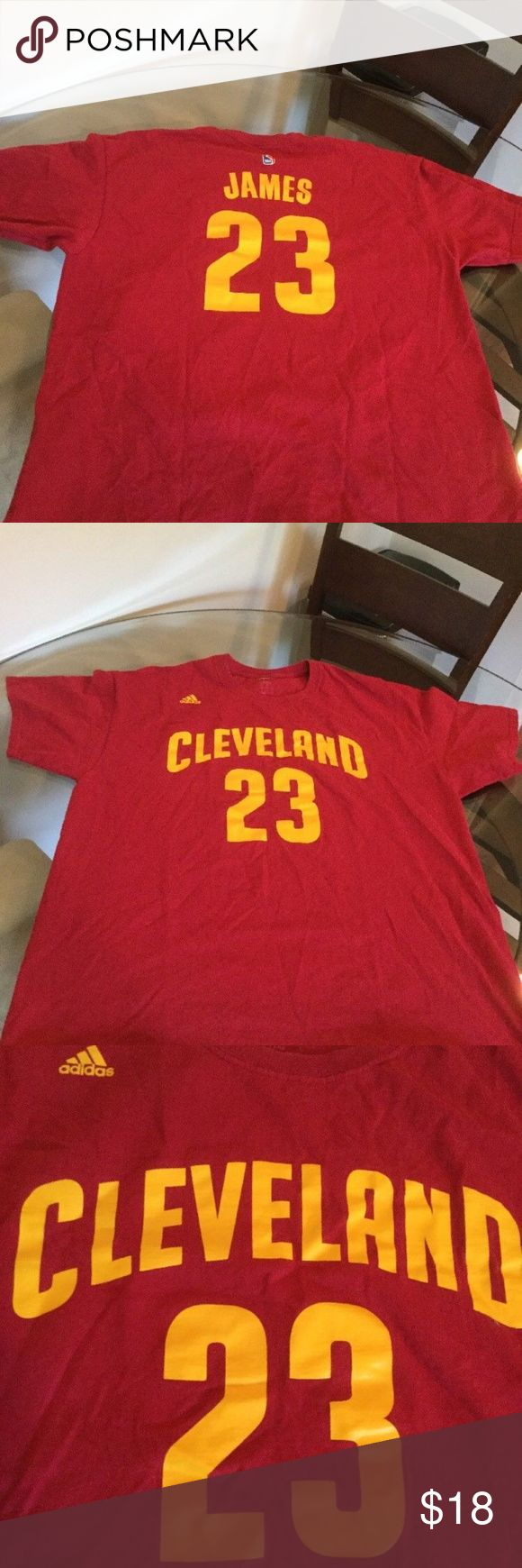 Cleveland Cavaliers Lebron James Jersey Shirt Cleveland Cavaliers Cavs Lebron James Red Adidas Jersey T-Shirt  Used - Excellent Condition - See Pics!!!  Size - Large adidas Shirts Tees - Short Sleeve