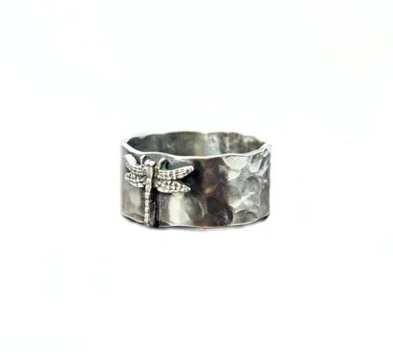 STYLISH STERLING SILVER RING  925 DRAGONFLY  SIZE 3.5-11