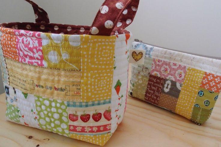 Fabric basket... I really love to make baskets! :)  www.vjahodovce.blogspot.com