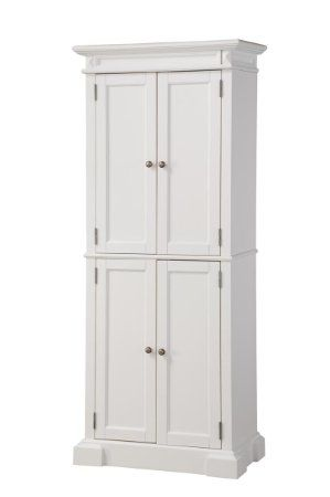Amazon.com - Home Styles 5004-692 Americana Pantry Storage Cabinet, White Finish - Free Standing Cabinets