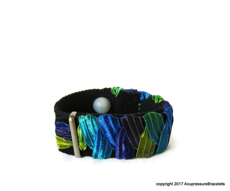 Anxiety/Stress Relief H7 Bracelet (one bracelet) Neptune  #naturalhealth #acupressure #acupuncture #anxiety #nausea #naturopathy #nervousness #motionsickness #morningsickness #Insomnia #indigestion #pregnancy #palpitations #menopause #stress #travel