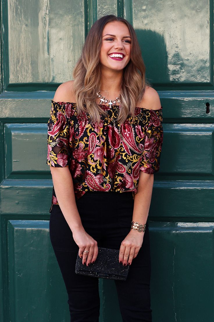 Anthropologie Off The Shoulder Top Outfit | Monica Beatrice Welburn | The Elgin Avenue Blog