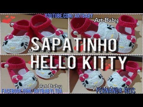 Sapatinho de Bebê Galinha Pintadinha de crochê, By Vanessa Cunha - YouTube