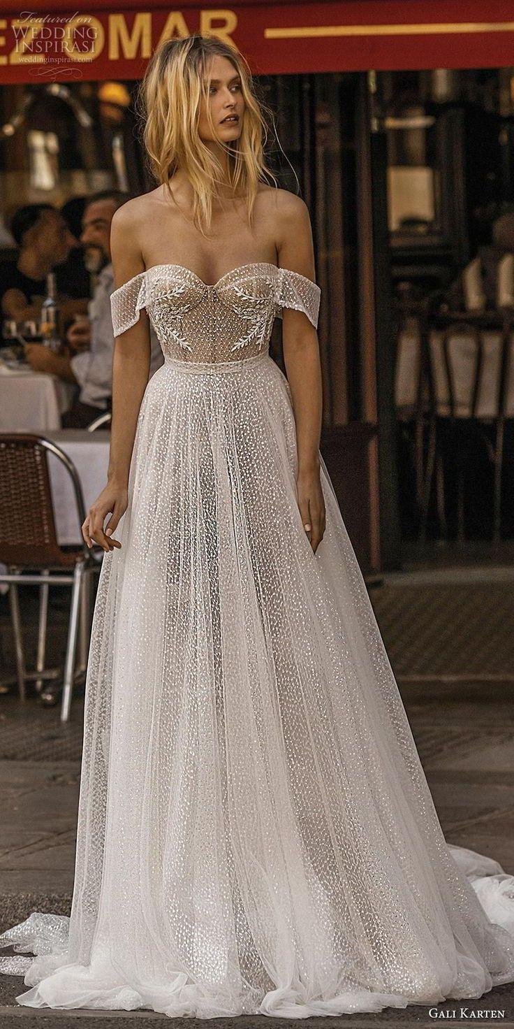 gali karten 2019 bridal off the shoulder sweetheart neckline mild embellishment…