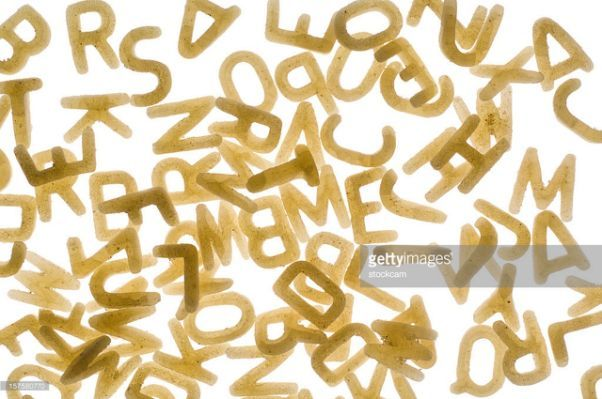 Alphabet Pasta Stock Photo | Getty