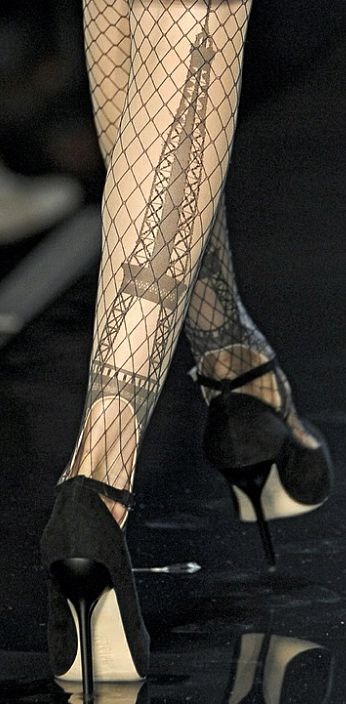 Jean Paul Gautier ~ Eiffel Tower Stockings at Neiman Marcus