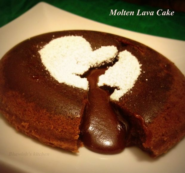 Molten Choco Lava Cake #recipe #dessert #chocolate