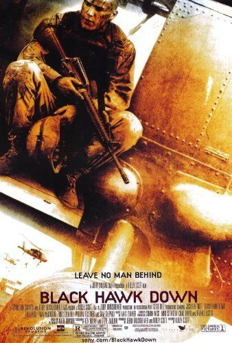 """Black Hawk Down (2001) Poster - """"Based on true events, one of the best war movies I've seen. Intense, gut-wrenching, graphic battle scenes, action-packed and not for the faint of heart! Did I mention to keep the Kleenex handy?"""""""