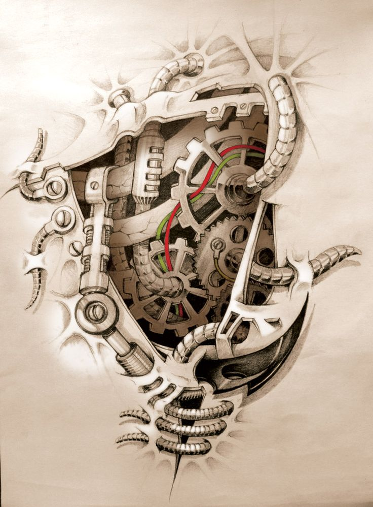 mechanics inside tattoo from Devianart... another one Justin would like...
