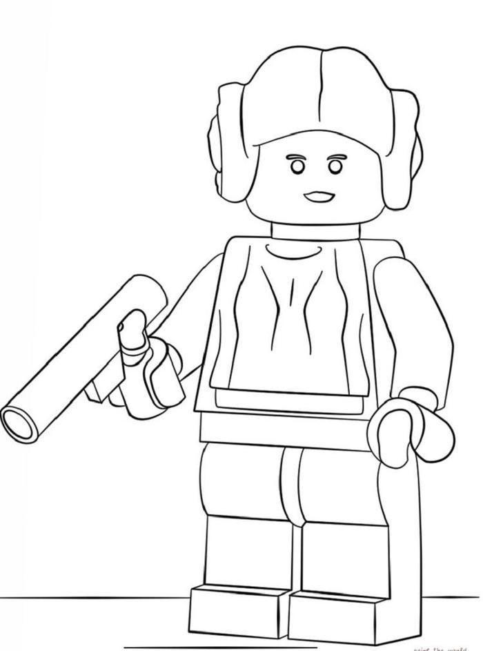 Lego Coloring Pages Princess Leia Lego Coloring Pages Star Wars Coloring Sheet Lego Coloring