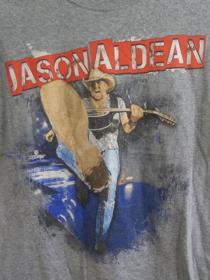 2014 Jason Aldean Night Train Tour Live T-Shirt Adult S Small