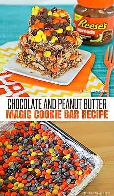 Peanut butter lovers have we got a great surprise for you: magic cookie bars packed full of peanut butter flavor courtesy of Reese's Peanut Butter Spread and Reese's Pieces! It's like a chocolate and peanut butter overload! Is your mouth watering yet? It will be soon! Follow along as eBay shares a simple recipe to make a peanuty explosion in your own kitchen!