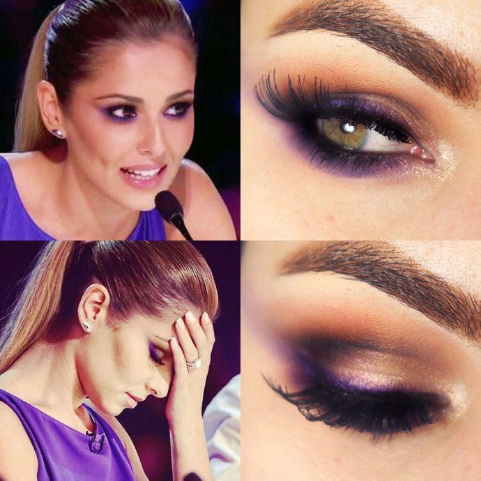 Tutorial – Maquiagem roxo da Cheryl Cole no X Faço -Pausa para Feminices