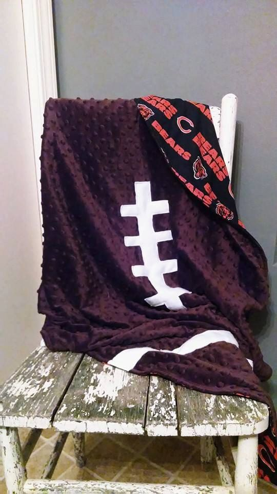 Chicago Bears Football Blanket by SuperBsBabyBoutique on Etsy, $39.00