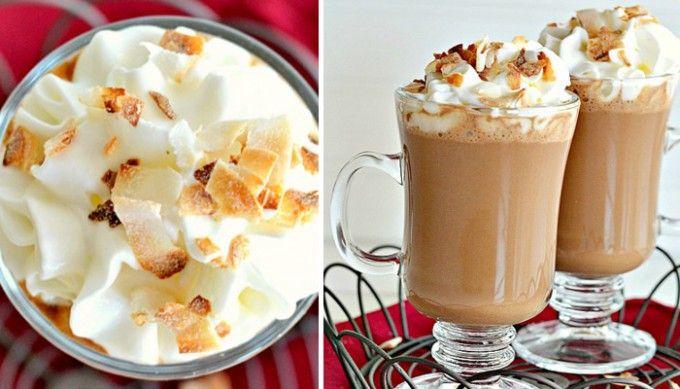 Kokosovo-karamelová horká/ledová čokoláda