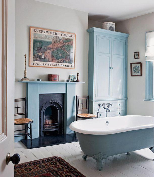 Ванная комната в доме в Лондоне