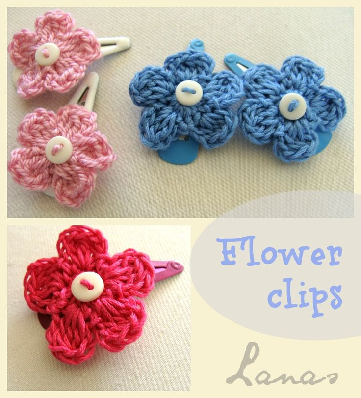 Lanas de Ana: HOW TO: Simple Flower Hairclips, thanks so xox