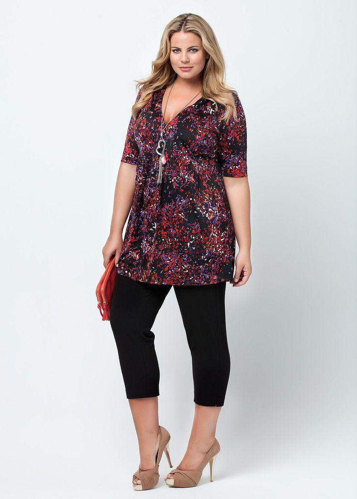 Fashion Plus Size - Plus Size Womens Clothes, Tops & Dresses | Fashionable Plus Size Clothes - ROSITA TUNIC - Virtu