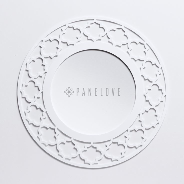 Biała okrągła ażurowa rama marokańska (panel dekoracyjny) do luster